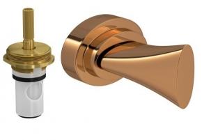 Acabamento para Registro de Pressão 1/2 e 3/4 com Mecanismo 1/2 Volta DK Red Gold Deca