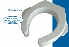 Assento Sanitário com Abertura Frontal Branco Produza