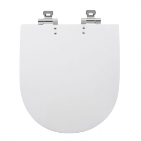 Assento Sanitário Poliester Sofisticato Carrara/LK Soft Close Branco