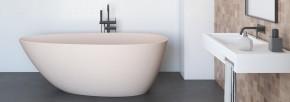 Banheira Angra 1,79x89cm em Duramatt Nude Rústico Com Válvula Sabbia