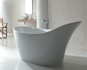 Banheira Contemporânea 1,64x80 Amalfi Branca Doka