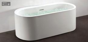 Banheira Contemporânea 1,68x65 Viena X com Air Massage e Cromoterapia Branca Doka