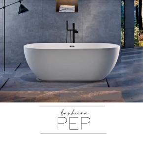Banheira de Imersão Contemporânea 1,80x80x59 Pep Baumê