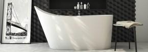Banheira Floripa 1,57x77cm em Duramatt Branco Fosco Com Válvula Sabbia