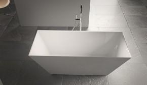 Banheira Quadra 168x78,5x57 Duramatt Branco Fosco Com Válvula Sabbia