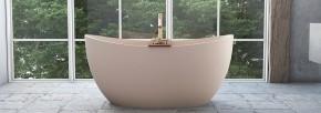Banheira Sampa 1,48x79cm em Duramatt Nude Rútico Com Ladrão Sabbia