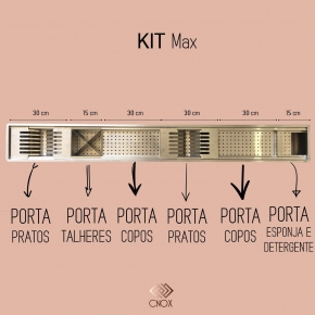 Calha Gourmet 1.50m Kit Max Cnox