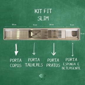 Calha Gourmet 90cm Kit Fit Slim Cnox