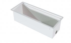 Calha Seca de Encaixe em Aço Inox Branco Fosco Xteel