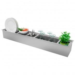 Canal Organizador Úmido para Cozinha Inox Debacco