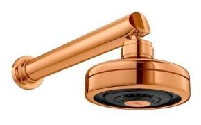 Chuveiro Com Tubo Parede 1990 Acqua Plus Gold Matte Deca