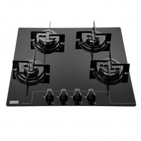 Cooktop 4 Queimadores Glass FHG 604 4G FC Vidro Bivolt Preto Franke