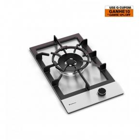 Cooktop em Inox 1 Queimador à Gás 30x51 Zurique 220v Debacco
