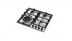 Cooktop em Inox 4 Queimadores à Gás 58x51 Zurique 220v Debacco