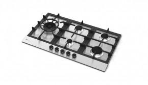 Cooktop em Inox 5 Queimadores à Gás 86x51 Zurique Debacco