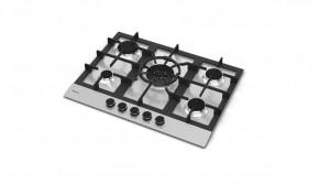 Cooktop em Inox 5 Queimadores à Gás 68x51 Zurique Debacco