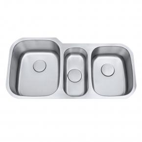 Cuba de Cozinha Tripla Aço Inox 1mm Escovado C301 98,4x52,7x22,8cm Arell