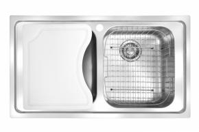 Cuba Dupla Smart 86x50 SRX620 Escovado com Acessórios Franke