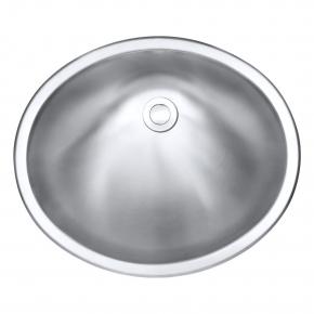 Cuba Oval p/ Banheiro Inox 1mm Escovado C120 48,6x41x17,8cm Arell