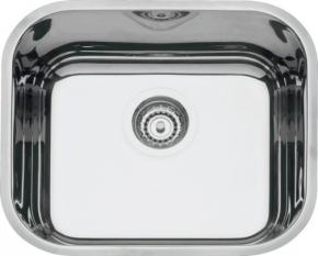 Cuba Retangular para Cozinha 40x34x17 Número 0 com Válvula de 4.1/2 e Escape Inox Alto Brilho Tramontina