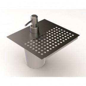 Dispenser para Detergente e Apoio de Esponja 15cm em Inox para Calha Úmida Xteel
