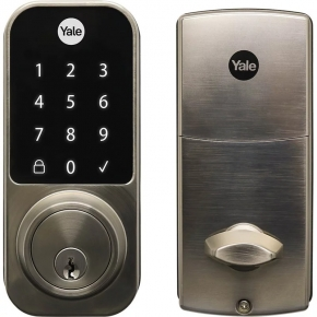 Fechadura Digital YDD 120 Porta Externa com Senha e Chave Yale