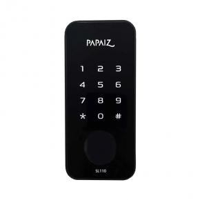 Fechadura Eletrônica Smart Lock s/ Maçaneta SL110 Preto Papaiz