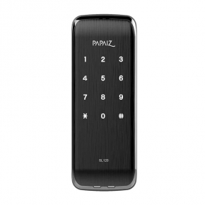 Fechadura Eletrônica Smart Lock Sobrepor SL120 Preto Fosco Papaiz
