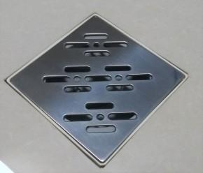 Grelha para Caixa Sifonada 10x10 Inox Polida Ralo Linear