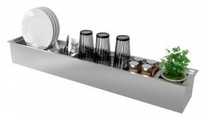 Kit Canal Organizador Úmido 1086x190mm para Cozinha Inox Debacco