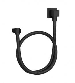 Kit Flexível Quadrado com Suporte para Ducha Manual 4604 Black Matte Deca