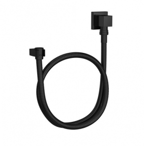 Kit Flexível Quadrado com Suporte para Ducha Manual 4604 Black Noir Deca