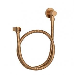 Kit Flexível Redondo com Suporte para Ducha Manual 4605 Gold Matte Deca