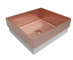 Lavabo Primaccore Semi Top Mount 400 90930 Rose Gold 40x37 Debacco