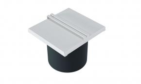 Lixeira 15cm em Inox Branco Fosco para Calha Úmida Xteel