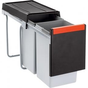 Lixeira de Embutir Cube 30 2 Reservatórios 15L em ABS Franke