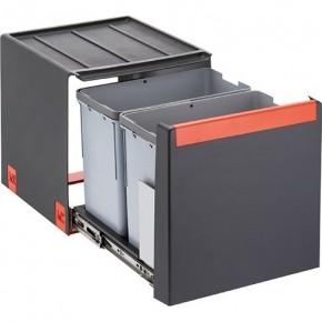 Lixeira de Embutir Cube 40 2 Cestos de 14 Litros Cada Franke