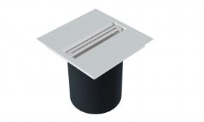 Lixeira de Embutir Quadrada com Puxador Linear Branco Fosco Xteel