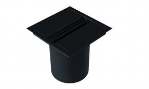 Lixeira de Embutir Quadrada com Puxador Linear Preto Fosco Xteel
