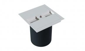 Lixeira de Embutir Quadrada com Puxador Quadrado Branco Fosco Xteel