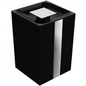 Lixeira One 1,5 Litros Preta Zen Design