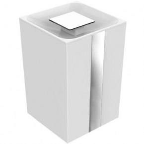 Lixeira One 5 Litros Branca Zen Design