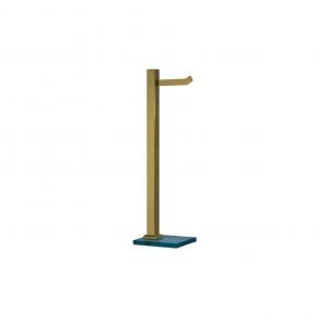 Papeleira de Chão em Aço Inox Gold C/ Vidro Incolor Ducon