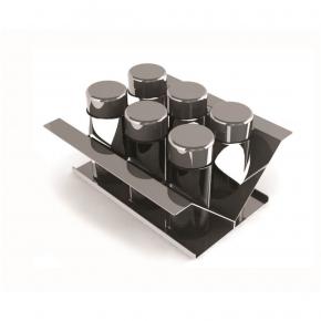Porta Condimentos de 15cm em Inox para Calha Seca Xteel