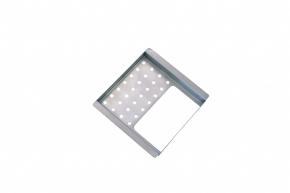 Porta Esponja e Detergente Simples 15cm em Inox para Calha Gourmet Cnox
