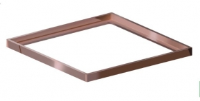 Porta Grelha Quadrado 150mm Cobre Rosé Grupo Linear
