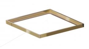 Porta Grelha Quadrado 150mm Dourada Grupo Linear