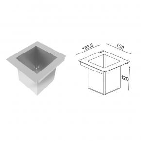 Porta Potes Mini Horta para Canal Organizador Úmido Inox Debacco