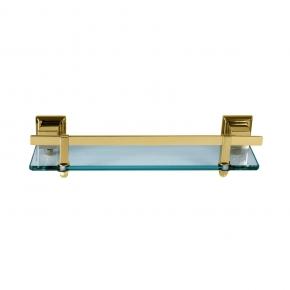 Porta Shampoo em Aço Inox Gold com Vidro Incolor Ducon