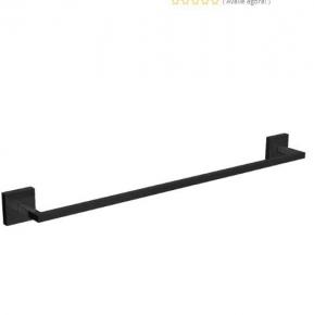 Porta Toalha Barra Clean 2040 BL 050 Black Noir Deca